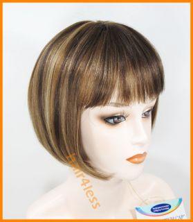 100% Human Hair Bob Straight Full Wig H280