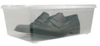 / Stacking Shoe Boxes Shoe Storages Organize Bins MCB S Clear