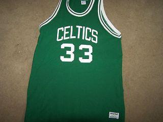 Boston Celtics Larry Bird NBA Throwback Green Basketball Jersey Large