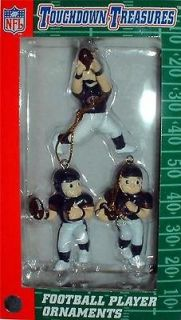 CHICAGO BEARS NFL FOOTBALL PLAYER ORNAMENTS 3 Pc. SET *