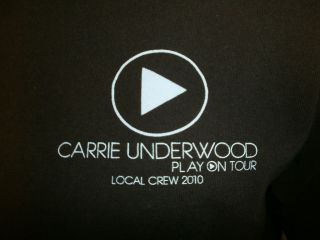 CARRIE UNDERWOOD CONCERT CREW T SHIRT Local Play On Tour FREE USA