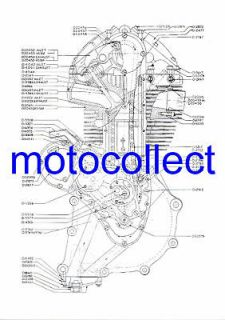 AJS 7RMATCHLESS G50 EngineFactor y Technical Drawing