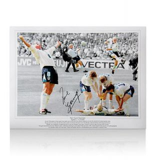 Brilliant Paul Gascoigne autographed England Dentist Chair Montage