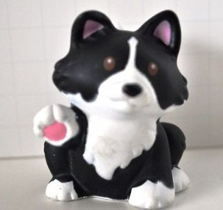 Price Little People Nativity Black & White Dog Border Collie Puppy dog