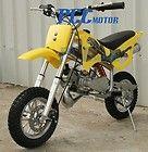 BRAND NEW 49CC 50CC 2 STROKE GAS MOTOR MINI BIKE DIRT PIT BIKE YELLOW