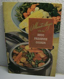 Vintage 1946 Minute Magic Ekco Pressure Cooker Cookbook Neat Cook Book