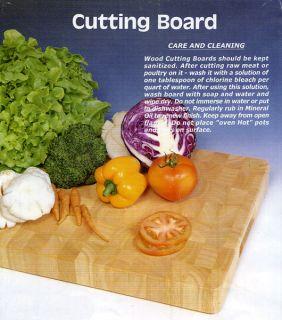 Adcraft BBB 1830 Large Wood Cutting Board 18 x 30