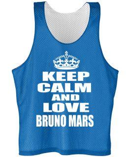KEEP CALM AND LOVE BRUNO MARS mesh jersey BRUNO MARS