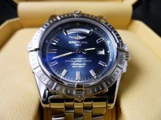 Breitling Windrider Headwind Stainless Steel A45355 Blue Dial