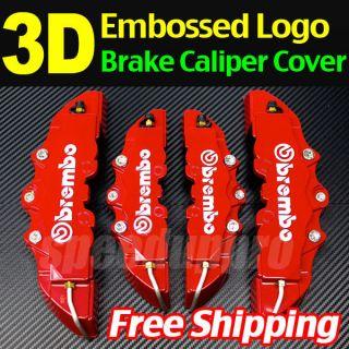 Brembo Look Brake Caliper Cover Kit Front+Rear 4pcs 3D