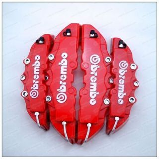 Red ABS 4pcs Front & Rear Disc Brake Caliper Cover Brembo Universal