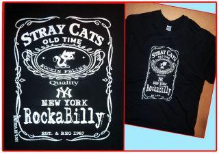 STRAY CATS ROCKABILLY NY T SHIRT S M L XL XXL ROCK N ROLL