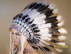 War Bonnet Native Headdress, American Reproduction