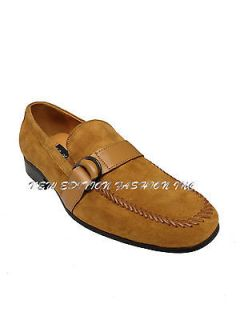 La Milano Mens Italian Design Suede Dress Shoes Slip On Loafers A1063