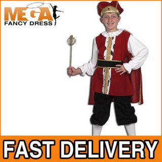 Boys Medieval King Royal British Fancy Dress Tudor Henry 8th Kids