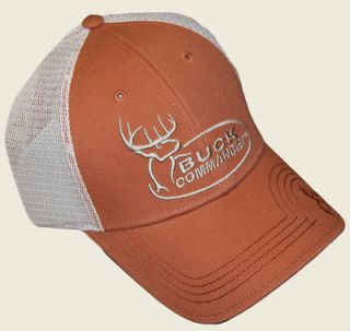 NEW BUCK COMMANDER ORANGE & MESH FITTED A FLEX CAP HAT DUCK