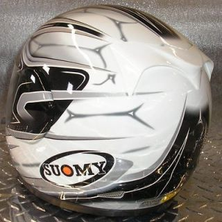 Suomy Apex Cool Silver Fullface Helmet Small Motorcycle