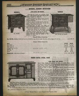 1918 AD Russell Steel Cook Stove Ranch Hotel Steel Coal Wood Cook Star