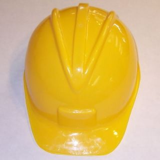 Child Adult Construction Hat Helmet Hard Yellow Party