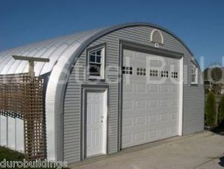 Duro Steel 30x30x15 Metal Arch Building Kits DiRECT Prefab Garage Shed