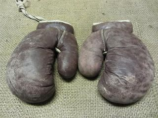 Vintage  Roebuck Leather Boxing Gloves Antique Old JC Higgins
