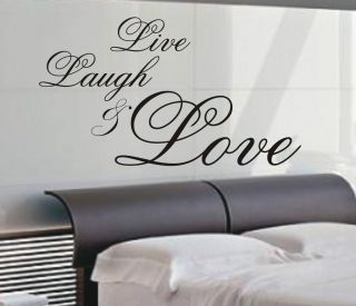 Live Laugh & Love wall art sticker quote   4 sizes   Bedroom wall