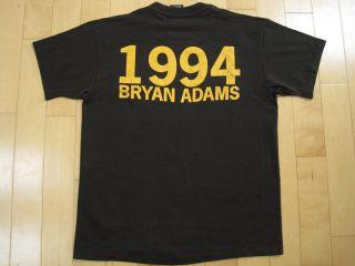 HUGE LOGO 1994 vintage BRYAN ADAMS concert T SHIRT canada LARGE
