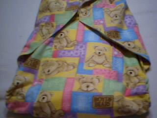 ADULT SISSY BABY DL FLANNEL CLOTH DIAPER XL 44 WAIST BOYDS BEARS