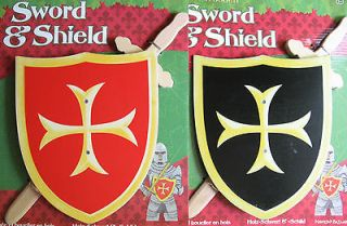 WOODEN SWORD & SHIELD   KNIGHT ROLE PLAY   MEDIEVAL ARMOUR DRESS UP