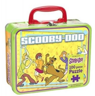 Scooby Doo 100 Piece Puzzle in Lunchbox Tin   Gang Dancing