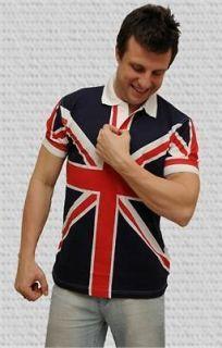 British Flag Union Jack Unisex Polo Shirt S M L XL BNWT