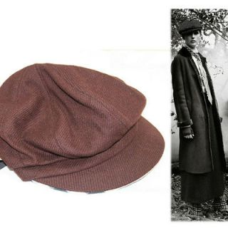 NEW BURBERRY LONDON Brown Wool Nova Check JUDE VINTAGE Style NEWS BOY
