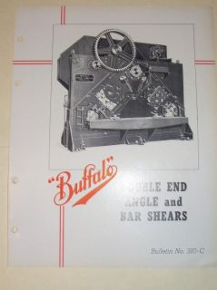 Vtg Buffalo Forge Catalog~Double End Angle/Bar Shears