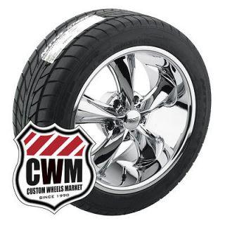 Foose Legend F105 Chrome Wheels Rims Tires for Buick Skylark 1967