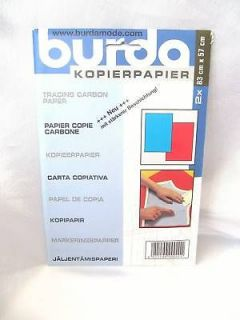 Burda Carbon Tracing Paper Blue & Red 2 Sheets