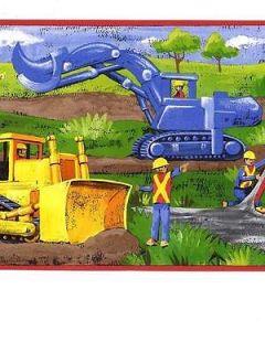 Big Road Construction Equipment for Boys Sale$9.95 Wallpaper Border