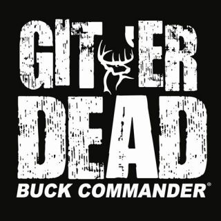 Buck Commander White ~ Git Er Dead ~ Deer Hunting Window Decal Truck