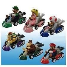 Cake toppers Super Mario Cars Kart 6 pull back racers with figures UK