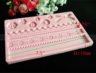Lace Fabric silicone mold cake decorating supplies fondant gum paste