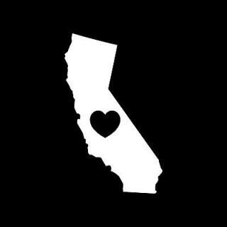 LOVE CALIFORNIA VINYL DECAL STICKER CAR TRUCK WINDOW STATES HEART