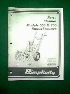 simplicity snow blower manual