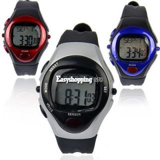 New Pulse Heart Rate Monitor Calories Counter Fitness Watch Clock