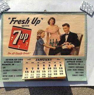 Up Soda Sign Calendar 1952 Life Saturday Evening Post Magazine