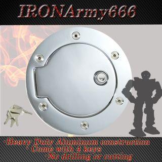 High quality Chrome Fuel Gas Door w lock 03   09 Dodge Ram 2500 3500