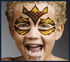 Body Art Monster Design Face Paint Stencil Template Airbrush Halloween