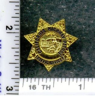 California Highway Patrol Traffic Officer Tie Tac / Lapel Pin mini