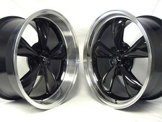Black Bullitt 18x9 &18x10 Mustang Wheels Deep Dish Bullet Rims 18 inch
