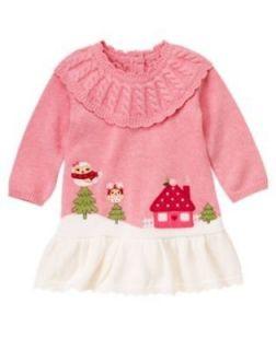 Gymboree Cozy Owl Scenic Sweater Dress New Size 3T