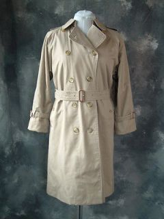 burberry trench outlet 5mmh  BURBERRY Trench Coat size 8 Long Khaki Lined Nova Check Iconic