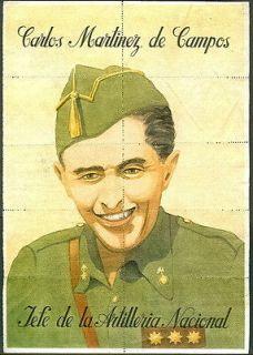 SPANISH CIVIL WAR POSTER RATION COUPON DE CAMPOS